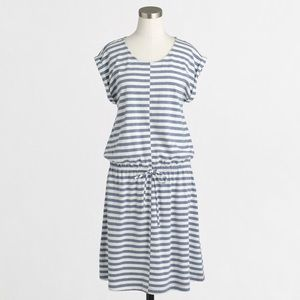 J. Crew Striped Heather Drawstring Dress Blue XS